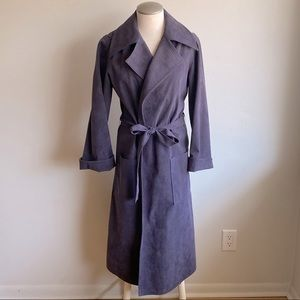 Vintage Brodkin Canadian Ultrasuede Trench Coat 12